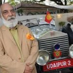 Udaipur's Maharaja & his car